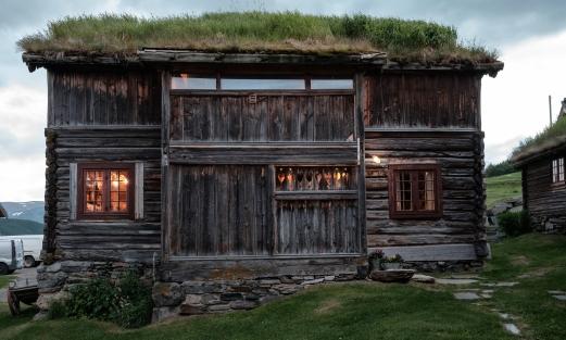 Valbjør gård, en av stuene på tunet